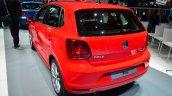 2014 VW Polo facelift rear three quarters at Geneva Motor Show 2014