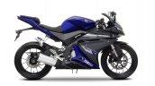 2014 Yamaha YZF-R125 Race Blu press shot