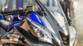 2014 Yamaha YZF-R125 headlamp detail press shot