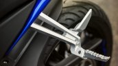 2014 Yamaha YZF-R125 pillion leg rest detail press shot