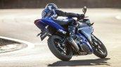 2014 Yamaha YZF-R125 rear three quarter press shot