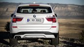 2015 BMW X3 facelift press shot rear image