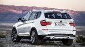 2015 BMW X3 facelift press shot rear