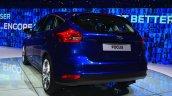 2015 Ford Focus Facelift rear three quarters left at Geneva Motor Show