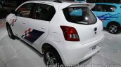 Accessorized Datsun Go at Auto Expo 2014 rear quarter