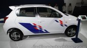 Accessorized Datsun Go at Auto Expo 2014 side white