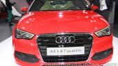 Audi A3 sedan front at Auto Expo 2014