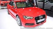 Audi A3 sedan front three quarters at Auto Expo 2014