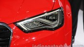 Audi A3 sedan headlamp at Auto Expo 2014