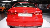 Audi A3 sedan rear at Auto Expo 2014