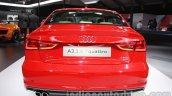 Audi A3 sedan rear at Auto Expo 2014