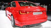 Audi A3 sedan rear three quarters at Auto Expo 2014
