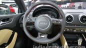 Audi A3 sedan steering wheel at Auto Expo 2014