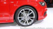Audi A3 sedan wheel at Auto Expo 2014