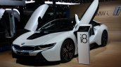 BMW i8 front three quarter scissor doors live