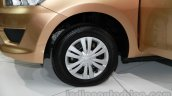 Datsun Go+ front wheel at Auto Expo 2014
