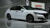 Honda Accord Hybrid front three quarters at Auto Expo 2014