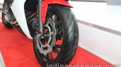 Honda CBR650F front wheel at Auto Expo 2014