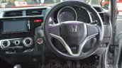 Honda Jazz steering wheel and dashboard at 2014 Auto Expo
