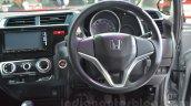 Honda Jazz steering wheel and dashboard at 2014 Auto Expo