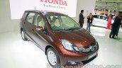 Honda Mobilio front three quarters at Auto Expo 2014