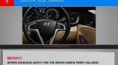 Hyundai Verna presentation airbag