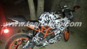 KTM RC390 caught on test India side
