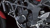 Kawasaki Ninja 250 RR Mono engine detail press shot