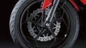 Kawasaki Ninja 250 RR Mono front wheel detail press shot