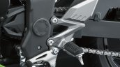 Kawasaki Ninja 250 RR Mono leg rest detail press shot
