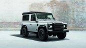 Land Rover Defender Black Pack front quarter view