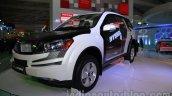 Mahindra XUV500 diesel hybrid front three quarters at Auto Expo 2014