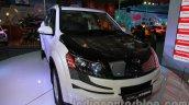 Mahindra XUV500 diesel hybrid front three quarters right at Auto Expo 2014