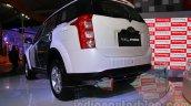 Mahindra XUV500 diesel hybrid rear three quarters at Auto Expo 2014