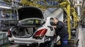 Mercedes-Benz C-Class Bremen plant inauguration checks press shot