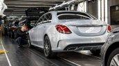 Mercedes-Benz C-Class Bremen plant inauguration rear three quarter press shot
