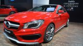 Mercedes CLA 45 AMG front three quarters at Auto Expo 2014