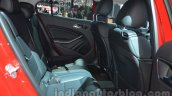 Mercedes GLA rear seat legroom at Auto Expo 2014