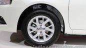 Nissan Sunny facelift wheel at Auto Expo 2014