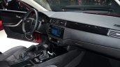 Qoros 3 hatchback dashboard passenger side - Geneva Live