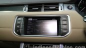 Range Rover Evoque 9-speed infotainment display at Auto Expo 2014