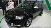 Skoda Yeti facelift front three quarters at Auto Expo 2014