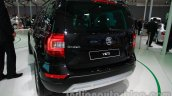 Skoda Yeti facelift rear three quarters at Auto Expo 2014