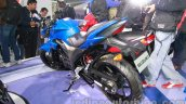 Suzuki Gixxer rear three quarters at Auto Expo 2014