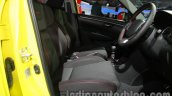 Suzuki Swift Sport front seats at Auto Expo 2014