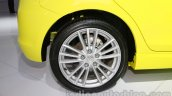 Suzuki Swift Sport rear wheel at Auto Expo 2014
