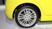 Suzuki Swift Sport rear wheel at Auto Expo 2014