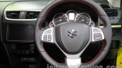 Suzuki Swift Sport steering wheel at Auto Expo 2014
