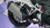 Suzuki V-Strom 1000 ABS exhaust at 2014 Auto Expo