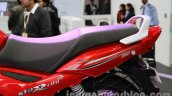 TVS Star City+ seating pillion at Auto Expo 2014